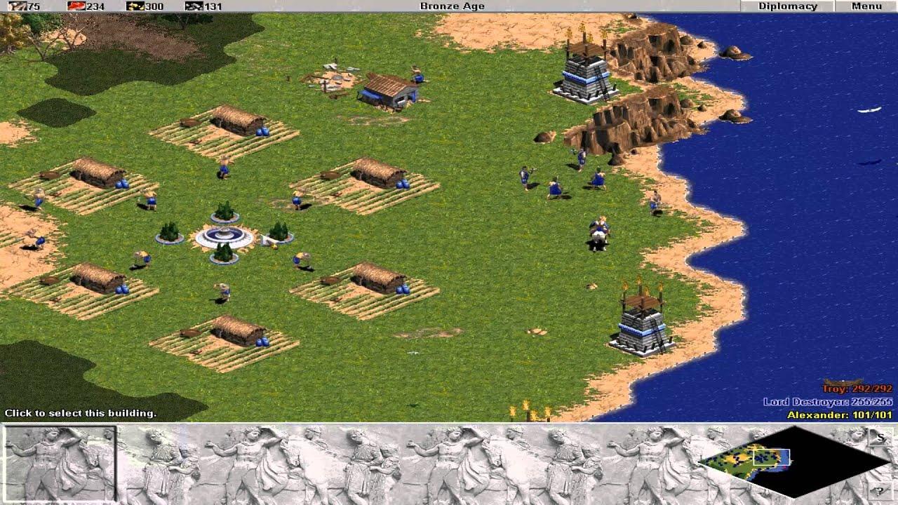 age of empires 16 glory of greece trojan war youtube