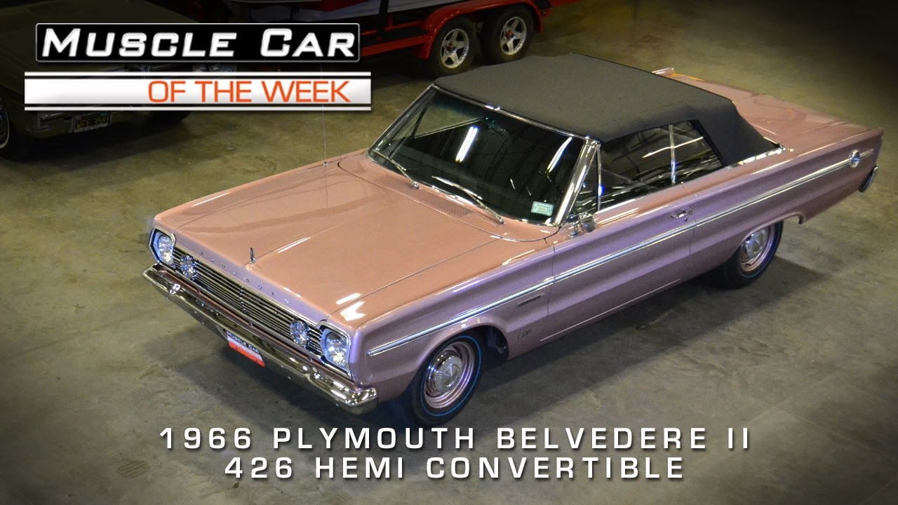 Muscle Car Of The Week Video 36 1966 Plymouth Belvedere