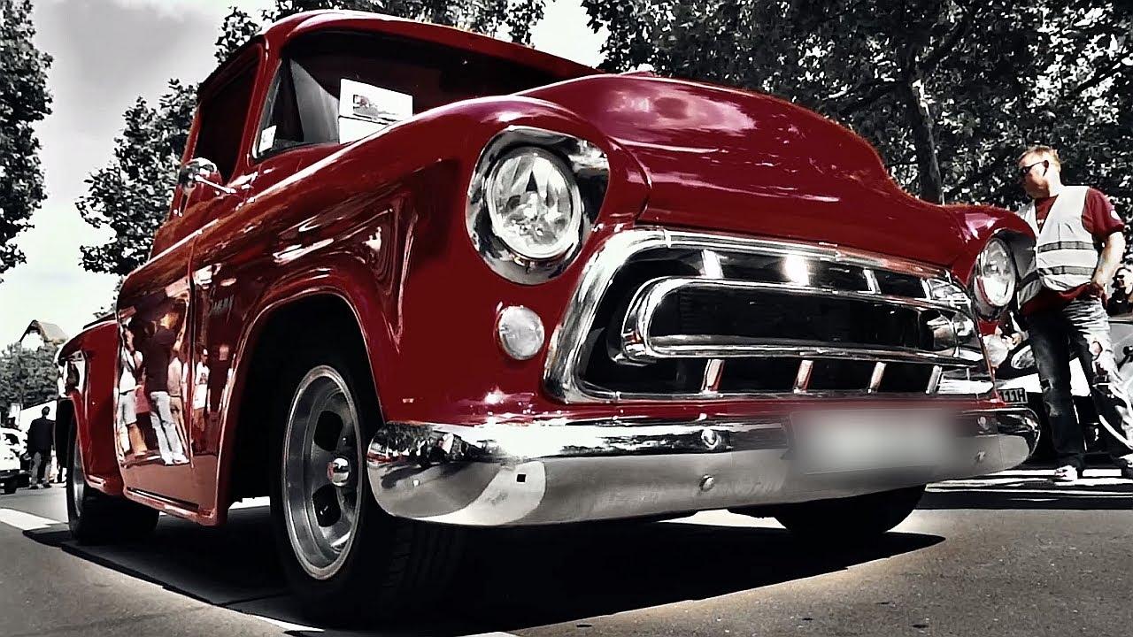 chevy pickup v8 sound chevrolet stepside truck 1957 youtube. Black Bedroom Furniture Sets. Home Design Ideas
