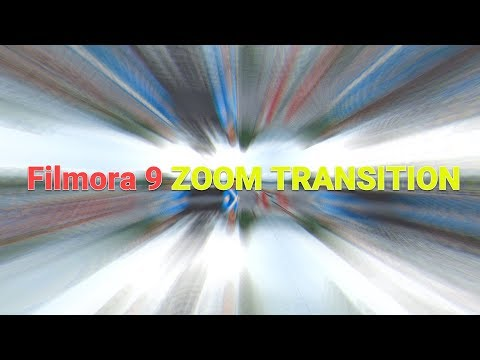 How to Apply Zoom Transition Effect In Filmora 9