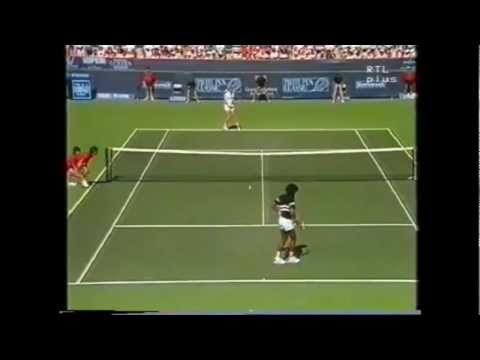 Boris Becker vs Yannick Noah 1987 Indian Wells 13