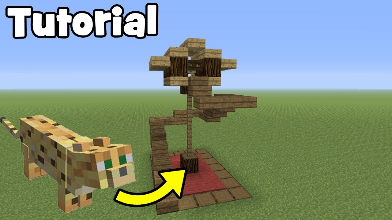 Minecraft tutorial how to make a cat house youtube for How to build a cat