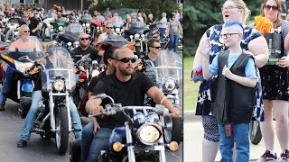 Motorcycle Riders Show Up to Birthday Party for Wisconsin Boy With Autism