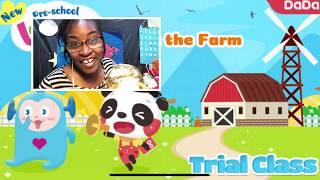 New! New! New! DaDa Mock Demo   Thorough Slide by Slide   Farm animals and a Beaver Slides