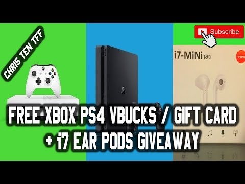 free-xbox-ps4-gift-card-vbucks-&-i7-ear-pods-giveaway-2020