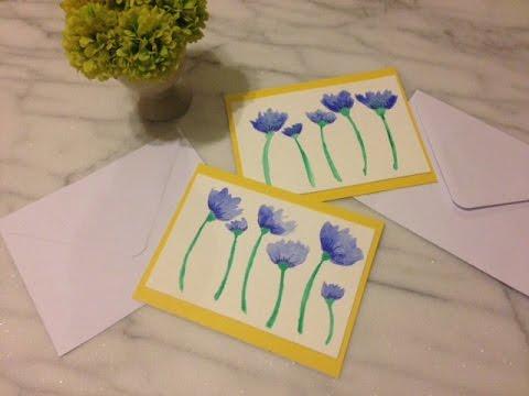Handpainted greeting cards diy youtube handpainted greeting cards diy m4hsunfo