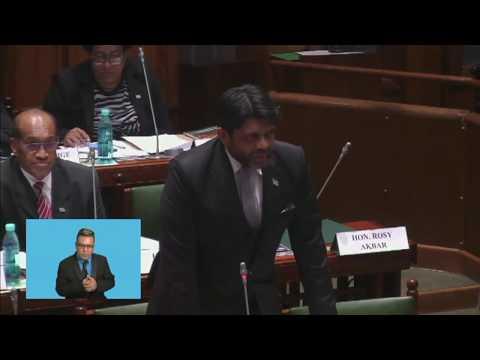 Fijian Attorney-General responds to question on mahogany plantations.