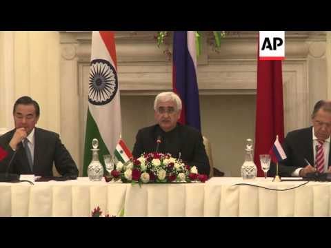 Indian FM Khurshid comments on Syria and the Middle East