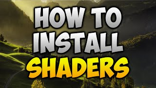 Minecraft 1.11/1.10.2 - How To Install Shaders Mod And Optifine (Simple)