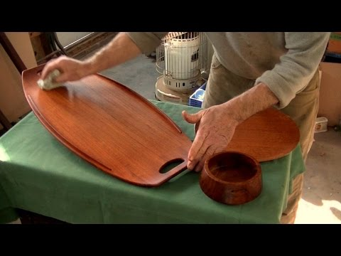 Restoring Midcentury Modern Teak Objects   Thomas Johnson Antique Furniture  Restoration   YouTube