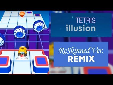 Rolling Sky Tetris Illusion (Remix) ReSkinned Version   SHA