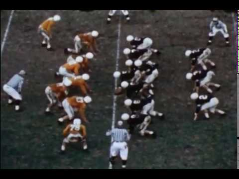 University Of Kentucky Vs University Of Tennessee Football Game, Claude Sullivan Play Call, 1953