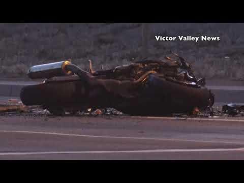 Motorcycle crash shuts down Nisqualli Road in Victorville Saturday #VVNG #Motoryclecrash