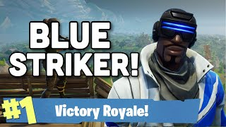 Nouvelle tenue de striker bleu libre! (11 Kill Solo Victory) - Fortnite: Battle Royal Gameplay