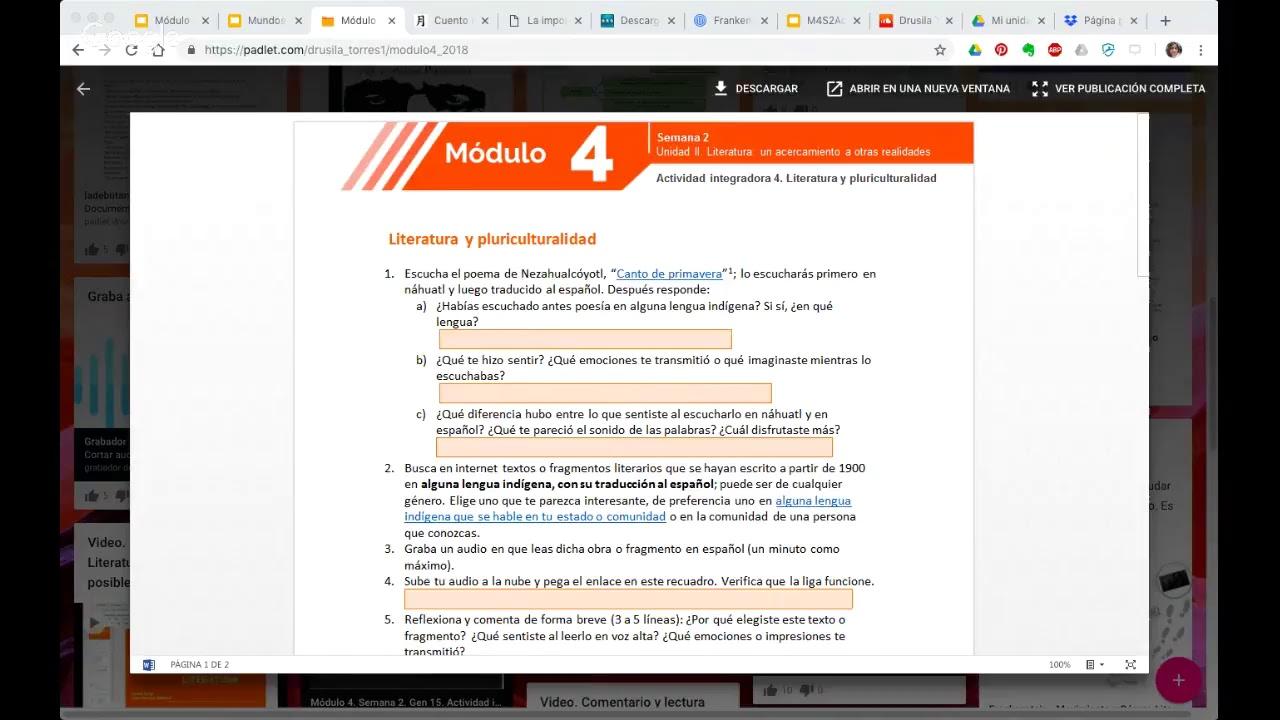 Módulo 4 Recursamiento Octubre 2018 Semana 1 By Drusila