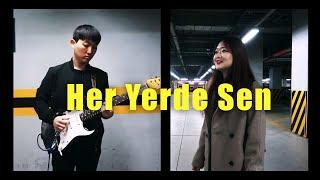 Her Yerde Sen - Zeynep Bastık (Cover by Koreli kız & çocuk) Resimi