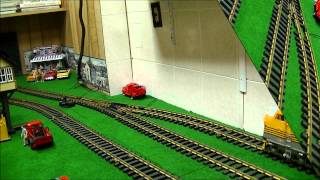 Triple Rio Grande SD40-2 Locomotives in Action - G Scale