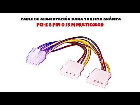 Video de Cable de alimentacion para tarjeta grafica PCI-E 8 pin 0.15 M Multicol