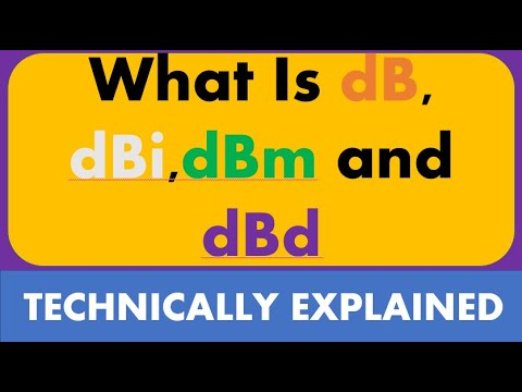 Download Difference between dB, dBi,dBm and dBd  What is dB what is dBi What is dBm What is dBd