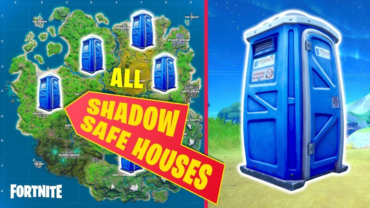 Find Shadow Safe Houses 5 5 All 5 Locations Fortnite Alpha Beta Charlie Delta Echo Youtube