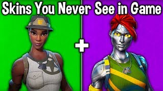 10 SKINS YOU NEVER SEE in FORTNITE! (no one uses these rare skins)