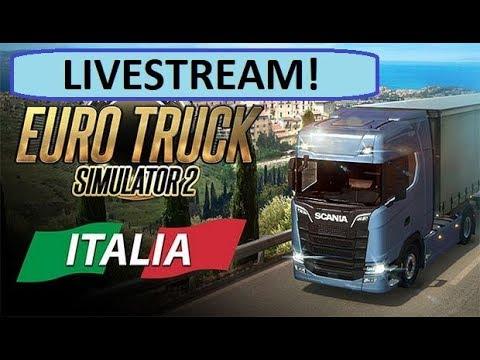 LIVESTREAM! Euro Truck Simulator 2 Italia & Special Transport (DLC)