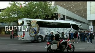 Live: Football fans arrive at Santiago Bernabeu for Real v Roma