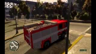 [GTA 4] Scania CAS 20-S2R Výjezd k požáru vozidla