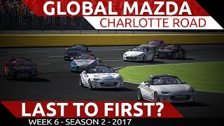 Last to first challenge! Global Mx-5 @ Charlotte Road iRacing