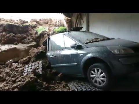 El parking está totalmente colapsado