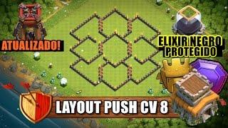 Melhor Layout Push CV8 - ATUALIZADO - Clash Of Clans 2017
