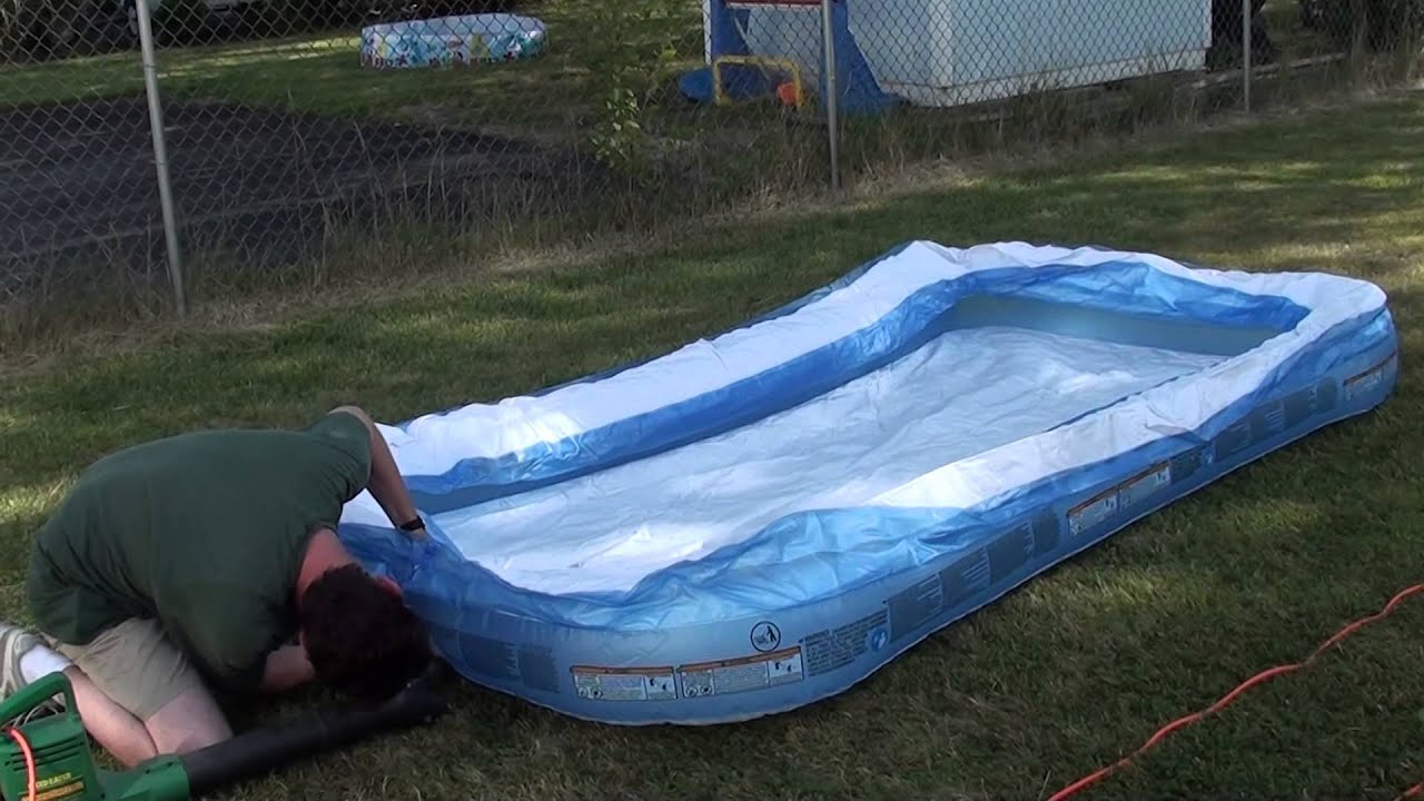 Inflate a swimming pool in less than 3 minutes.
