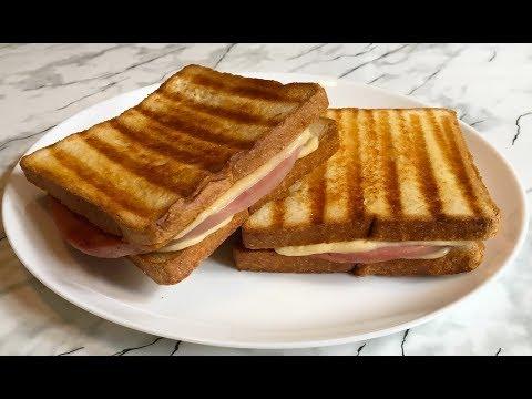 Сэндвич с Ветчиной и Сыром (Вкуснятина) / Горячий Бутерброд / Sandwich With Ham And Cheese