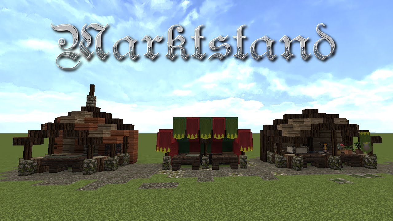 how to build a market in minecraft