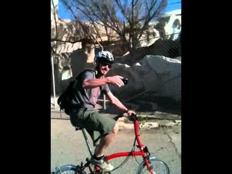 Baghdad commute on a folding bike