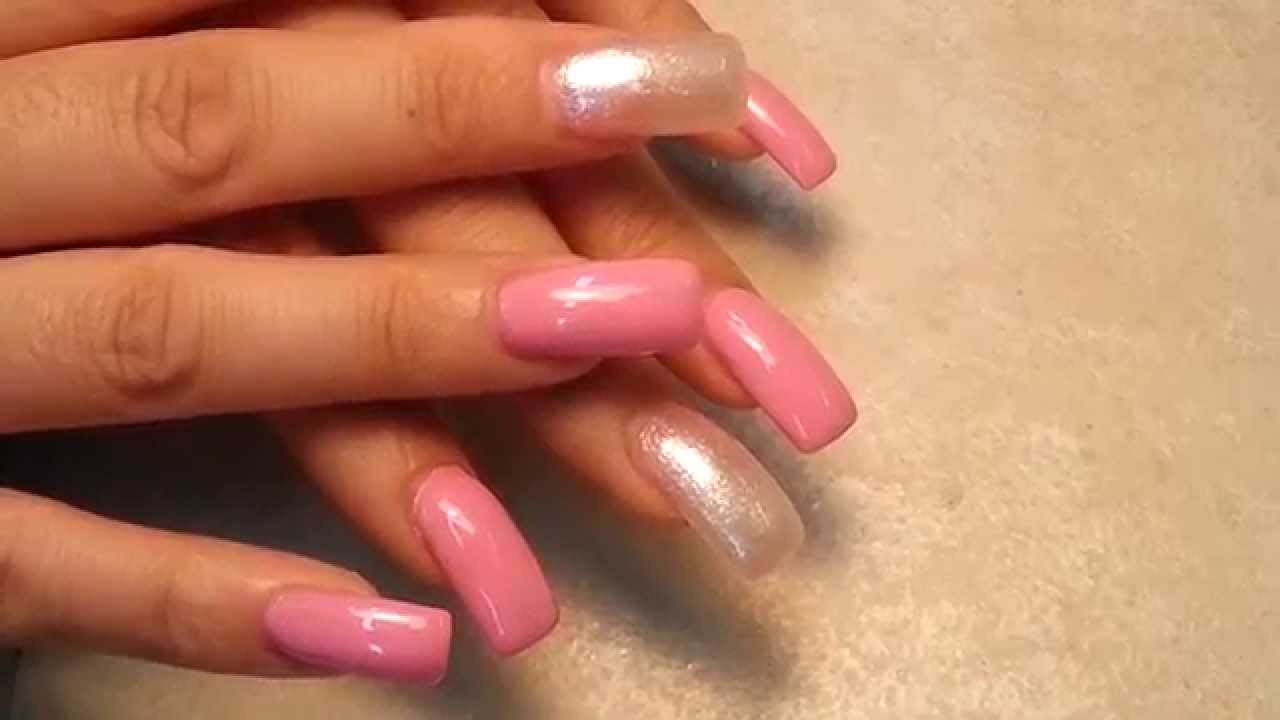 How to Acrylic Square Finger Nails Shape. - YouTube