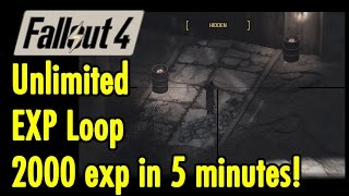 Unlimited EXP loop 1500-2000 exp in 5 minutes Fallout 4 xBeau Gaming
