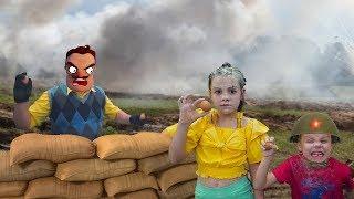 Hello Neighbor Ульяна и Захар устроили бой с Привет Соседом