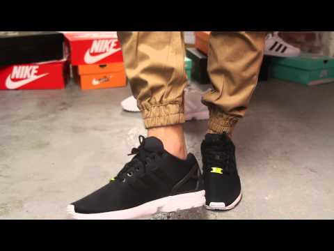 Adidas ZX Flux Black - White On-feet Video at Exclucity