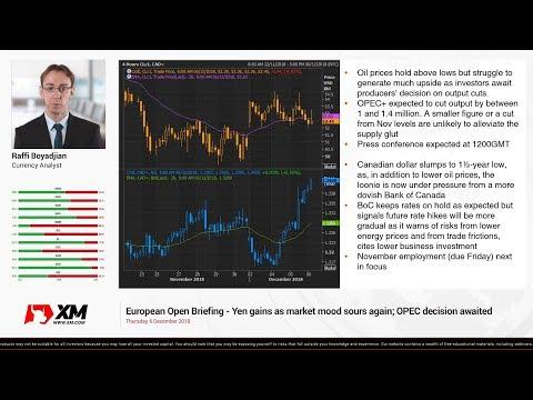 Forex News: 06/12/2018 - Yen gains as market mood sours again; OPEC decision awaited