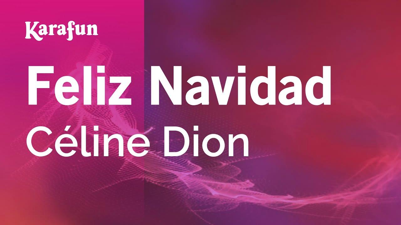 Feliz Navidad Celine Dion Karaoke Version Karafun Youtube