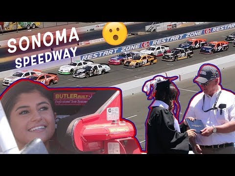 16 Year Old Girl Races Against Pros! Hailie Deegan Graduates At Sonoma Speedway!