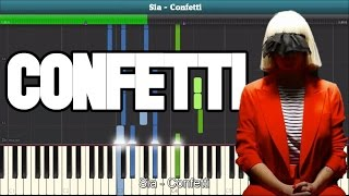 Confetti Piano Tutorial - Free Sheet Music (SIA)