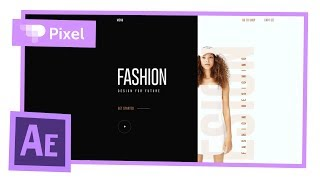 Анимация fashion сайта в After Effects   уроки для начинающих