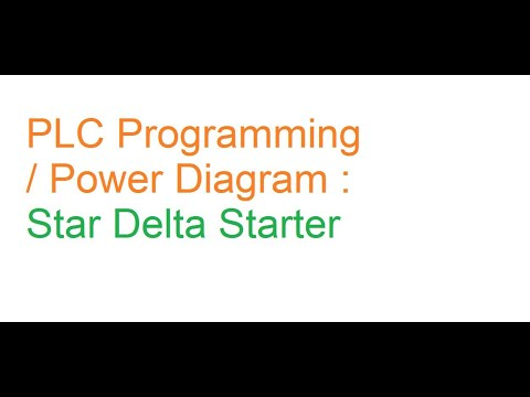 Plc Ladder Logic Plc Ladder Program And Power Wiring Diagram Of Star Delta Starter In Hindi Youtube