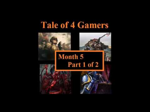 Tale of 4 Gamers. Month 5. Part 1. Warhammer 40K Batrep.