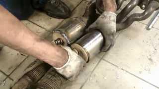 Замена катализаторов на пламегасители Ford Focus 1,6(, 2013-06-14T23:31:01.000Z)