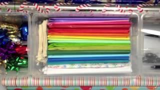 Gift Wrapping Paper Storage - Organization DIY