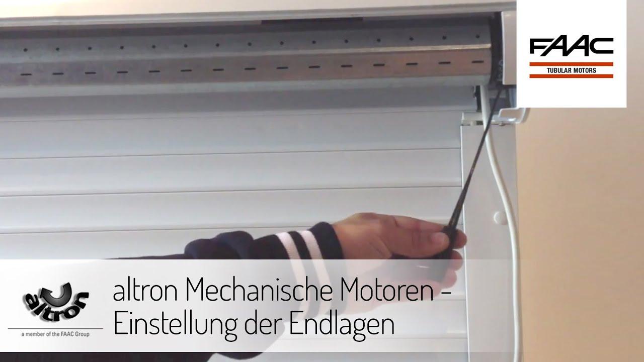 altron Mechanische Motoren - Einstellung der Endlagen - YouTube
