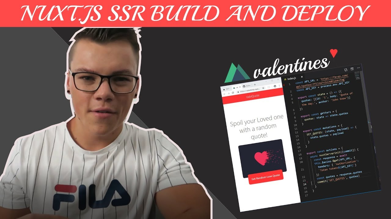 Nuxt js SSR Tutorial - Build and deploy a love quotes app ❤️